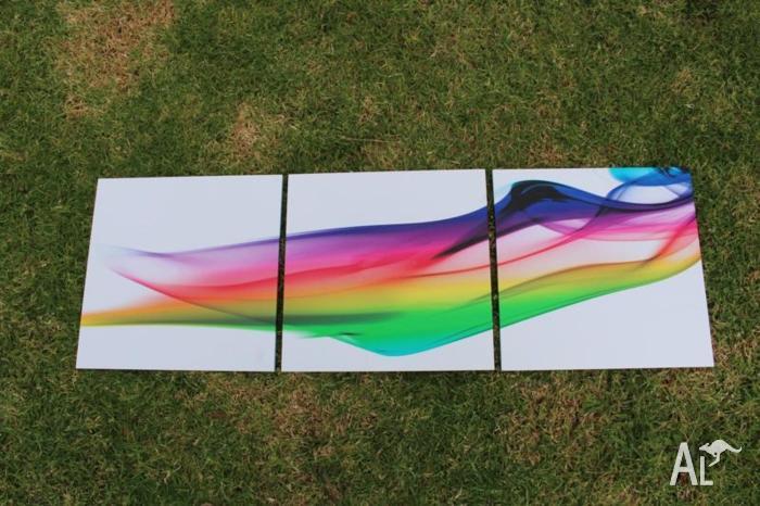 3 panel rainbow flare picture