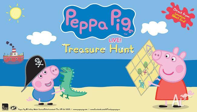 3 x Peppa Pig Live Treasure Hunt Tickets - Melbourne