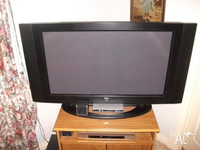 42 inch TV with surround sound system.