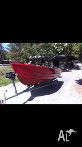 4.2m Tinny with 28 hp mariner