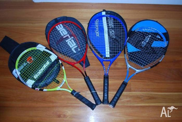 4 Junior Tennis Rackets