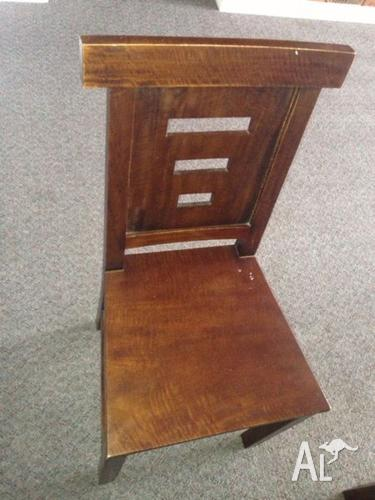 4 seater Indonesian mahogany dining table and chairs