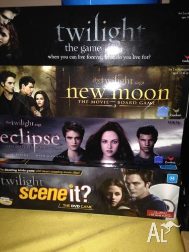 4 Twilight Board Games - Barely Used