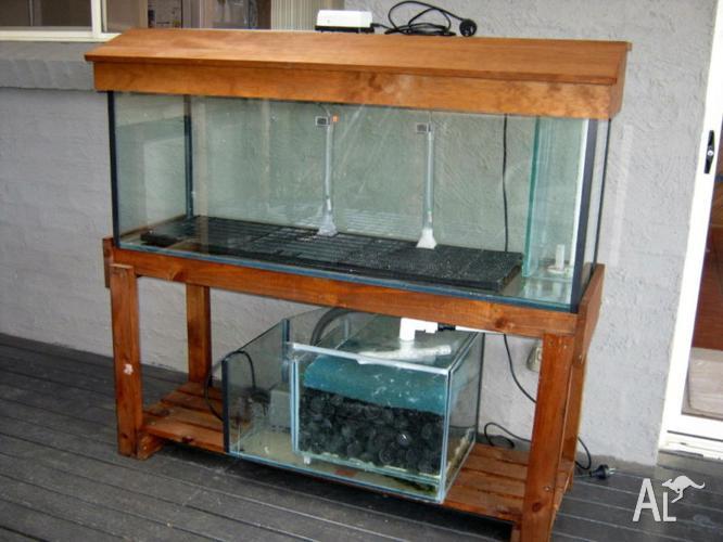 4ft fish tank aquarium stand hood light sump pump can for Fish tank sump pump