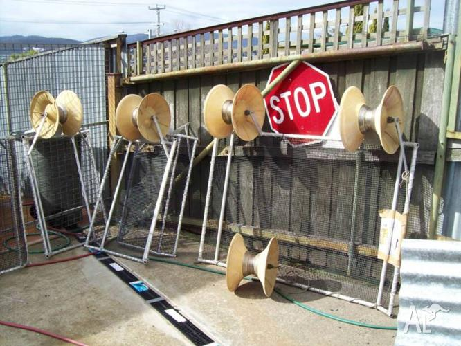 5 safety fishing net barriers, and reels $300 the lot