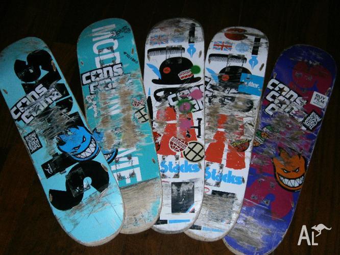 Used Skateboard Deck Gorgeous 5 Used Skateboard Decks For Sale In Floreat  Western Australia . 2017