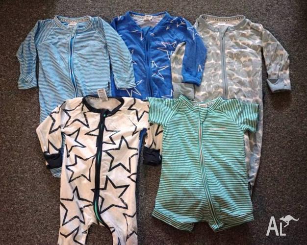 5 x BONDS Wondersuits size 0 6-12mths