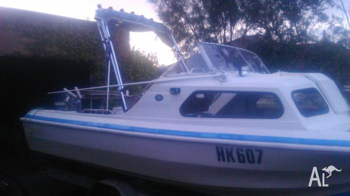 5mt swiftcraft seagull halfcab boat