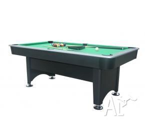 7Ft Traditional Black Pool Table & Accessories