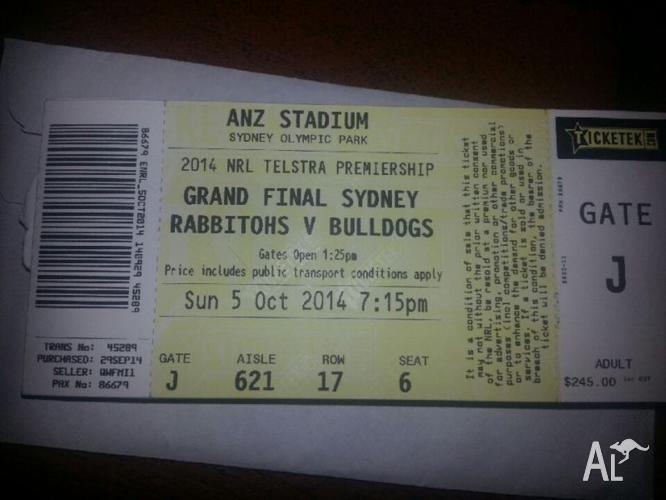 7x NRL GRAND FINAL TICKETS, GOLD RESERVED