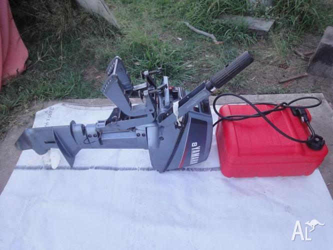 8 Hp Yamaha Outboard With Tank