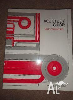 ACU Study Guide - skills for success (red)