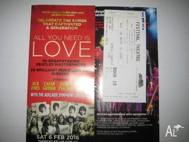 All You Need is Love - Beatles - Saturday, February 6.