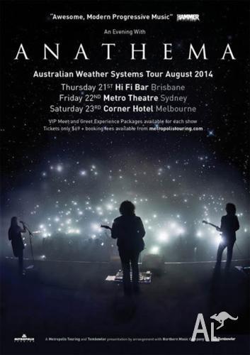 Anathema ticket Melbourne August 23rd 1 ticket left!!