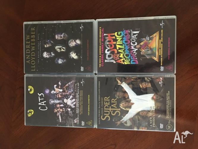 Andrew Lloyd Webber 4xDVD Boxed Broadway Collection