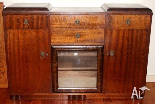 Antique Australian lounge or hallway unit-Lion Head