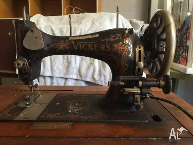 Antique Bebarfald Vickers and Jones Sewing machines