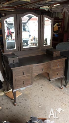 Antique bedroom dresser and side table.