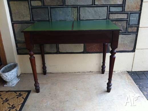 Antique Cedar Hall Table Writting Desk