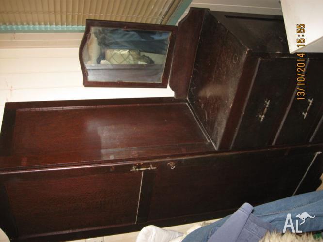 ANTIQUE Chifferobe Wardrobe/ Dresser With Mirror