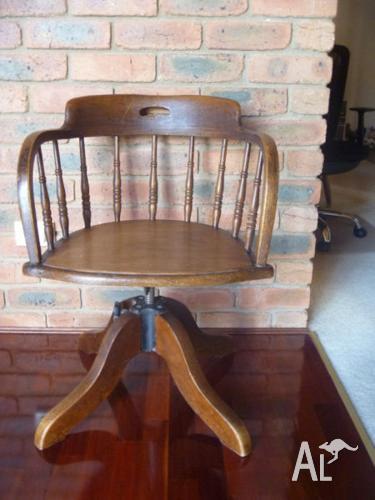 Astonishing Antique Oak Captains Chair Height Adjustment Mechanism For Dailytribune Chair Design For Home Dailytribuneorg