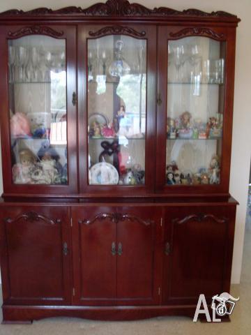 Antique Queen Anne Display Cabinet