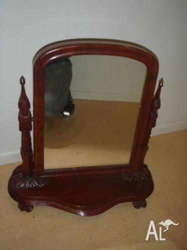 Antique Timber Wooden Dressing Table Mirror
