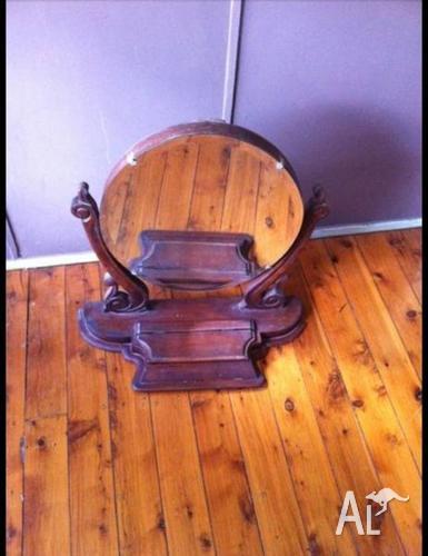 Antique Victorian dresser mirror