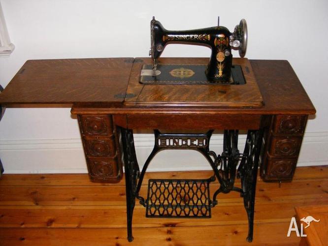 Admirable Antique Vintage Restored Singer Sewing Machine Treadle For Interior Design Ideas Clesiryabchikinfo