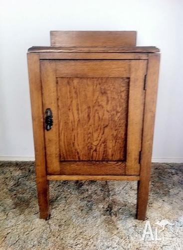 Antique wooden bedside table / occasional table -