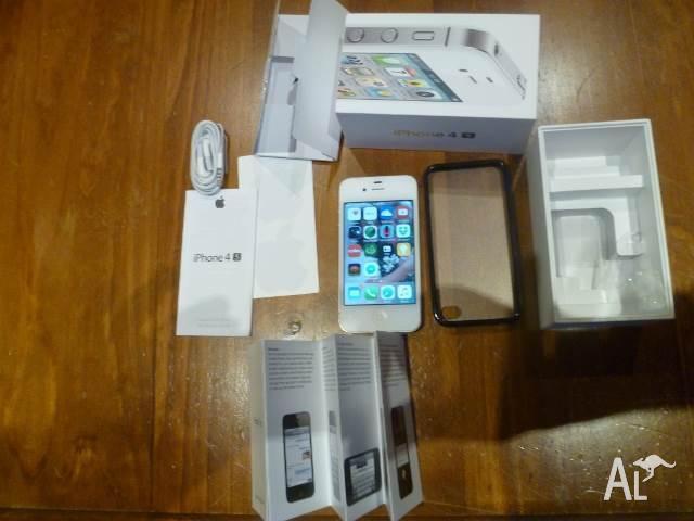 APPLE I PHONE 4S 16 GB WHITE SMART PHONE 100% UNLOCKED