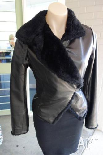 Armani Collezione small leather jacket