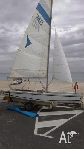 Arrow Catamaran with registered galvanised trailer