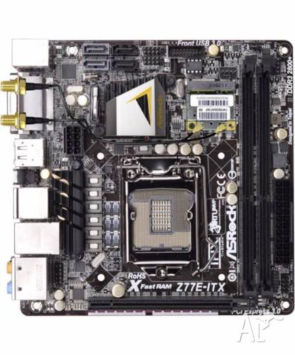 Asrock z77e-itx motherboard with Intel i7 3770k CPU
