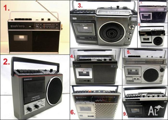 Assorted 1980-90's Radio Cassette Boombox