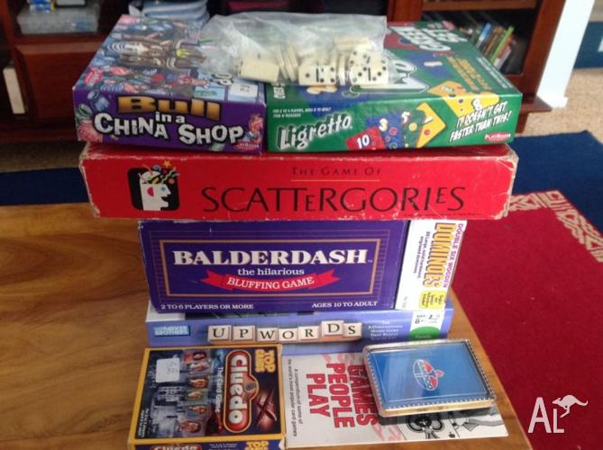 Assorted board and card games