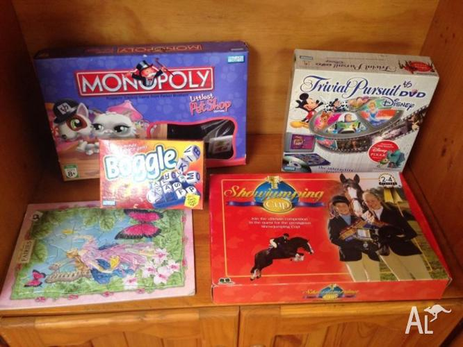 Assorted Children's Board Games