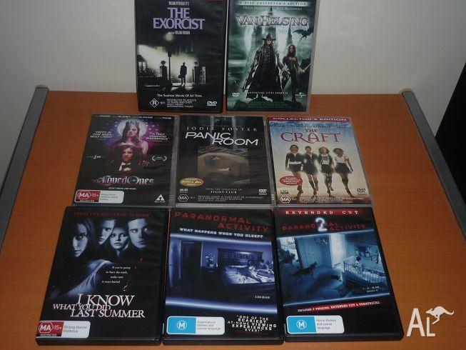 Assorted Horror/Thriller DVD's $5 each