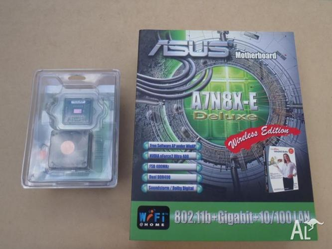 ASUS A7N8X-E Deluxe Wi-Fi M/B and Athlon 3200 - NEW