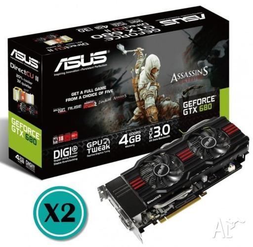 ASUS Nvidia 680GTX OC 4GB (2x GPU's)