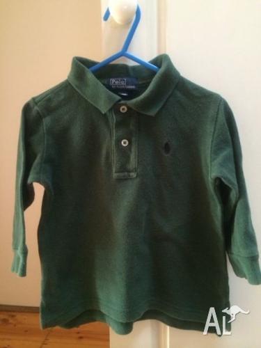 Authentic Boys RALPH LAUREN POLO long sleeve T Shirt.