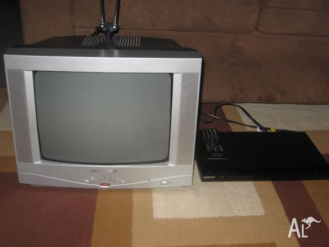 sony tv dvd combo. awa 34cm colour tv and sony dvd player combo deal.