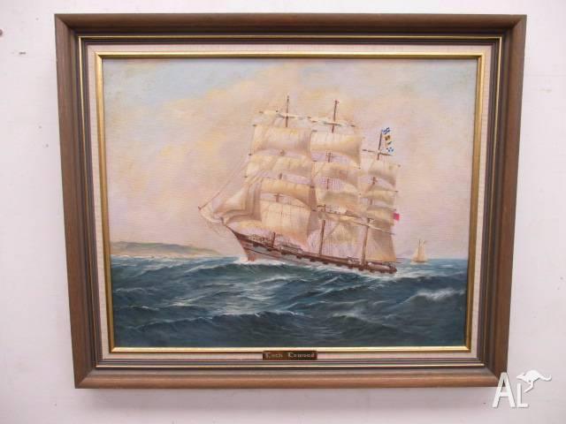 B44055 Original Painting Tall Ship