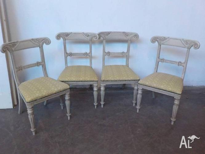 B5028 Set 4 Vintage French Style Provincial Dining