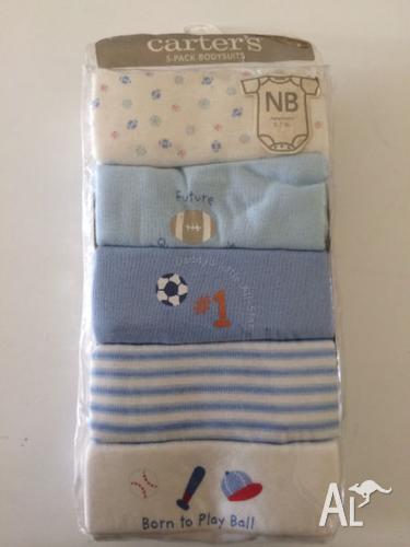 Baby 5 Pack Bodysuits Newborn