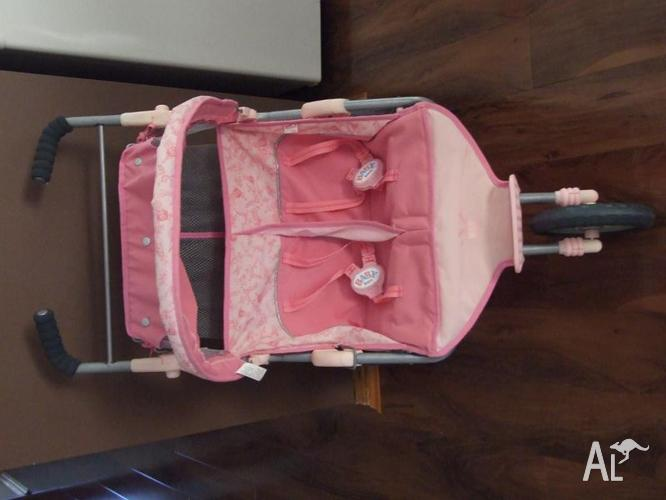 Baby Born Pram Zapf Doll Double Deluxe Stroller For Sale