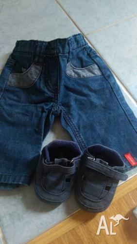 Baby Esprit 0-3 mths Jean + bonus shoes