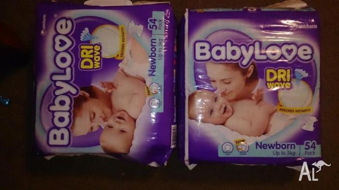 Baby love newborn nappies
