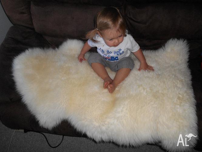Baby Sheep Skin Lambs Wool Rug For