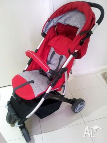 Babylove Aurora Stroller - Red - suits newborn to